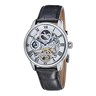 Thomas Earnshaw Men's Longitude Skeleton Automatic Watch with White Dial Analogue Display and Black Leather Strap ES-8006-01 (B00DY0BFDO) | Amazon price tracker / tracking, Amazon price history charts, Amazon price watches, Amazon price drop alerts