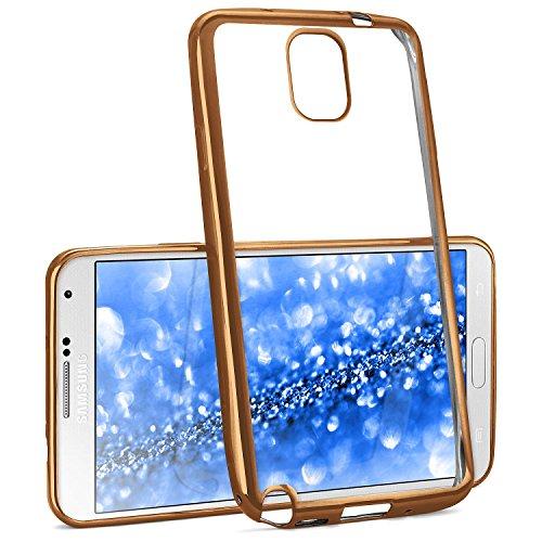 La caja del cromo para Samsung Galaxy Note 3 | Funda de silicona transparente con efecto metálico | Protección de celda fina bolsa de OneFlow | Backcover en