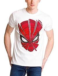 Spider-Man T-Shirt Broken Mask T-Shirt von Elbenwald Baumwolle weiß