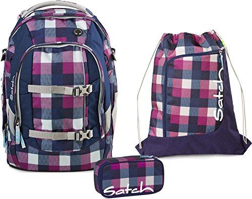 Satch Schulrucksack-Set 3-TLG Pack Berry Carry Lila
