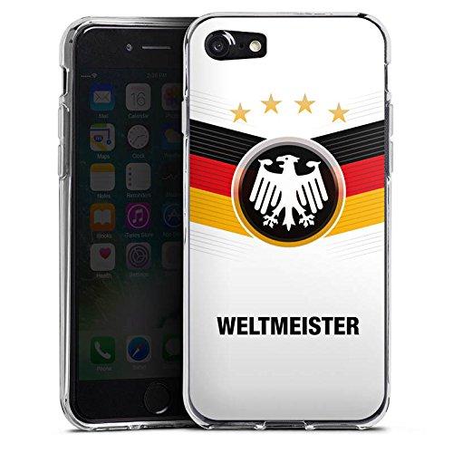 Apple iPhone X Silikon Hülle Case Schutzhülle fußball schwarzrotgold fussball Silikon Case transparent