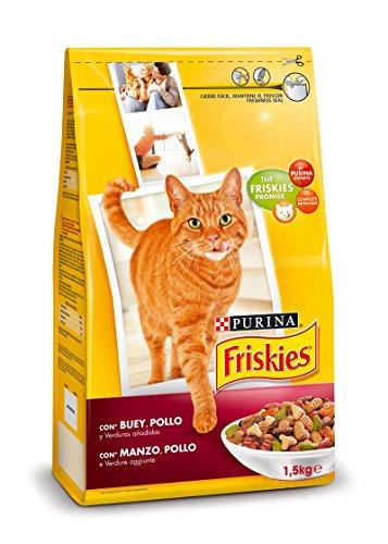 Friskies gatto crocchette adult con manzo, pollo e verdure aggiunte - pacchetto di 6 x 1500 gr - totale: 9000 gr