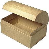 Preisvergleich für Rayher 8152300 Pappmaché Box Truhe, 12x8x7,5cm, passend für Art. 81 583 00 - wurde ersetzt durch: 71750000