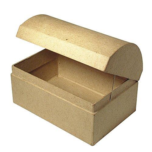 Rayher 71750000 Pappmaché Box: Truhe FSC Recycled 100%, 12x8x7,5cm