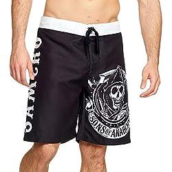 Sons of Anarchy - Shorts de baño para hombres reaper logo samcro elbenwald black