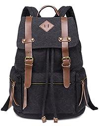 Sac à dos - Coofit sac en toile cartable sac a dos garçon pour college école hiking camping randonnée voyage - 32cm * 18cm * 43cm - sac a dos homme pour ordinateur jusqu'à 14''