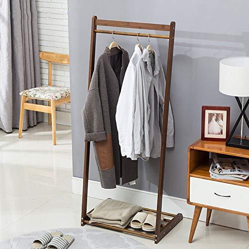 NA Garderobenständer Kleiderständer Multifunktions Boden stehend Bambus Kunst Kleiderbügel Lagerregale Schlafzimmer Kleiderständer Kleiderbügel stabil und langlebig, Kleidung Baum,146 * 60 cm -