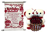 Gift For Girls- Couple Pen Stand Teddy W...