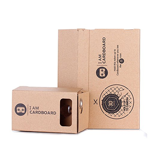 I AM CARDBOARD® 45mm Focal Length Virtual Reality Google Cardboard with Printed Instructions and Easy to Follow Numbered Tabs (WITH NFC)