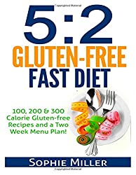 5:2 Gluten-free Fast Diet: 100, 200 & 300 Calorie Recipes AND a two week Menu Plan for Easy Weightloss!