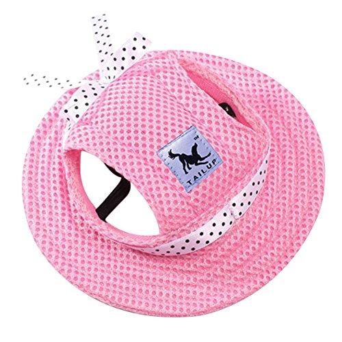 Haustier Prinzessin Hut Haustier Katzen Kreisförmig Kappe Zubehör mit Ohr Löcher für Kleine (Mini Hut Bowler)