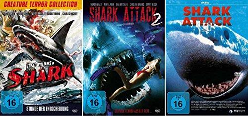 SHARK ATTACK 1 2 3 Trilogy - Angriff des weißen Hai - TERROR AUS DER TIEFE 3 DVD Collection