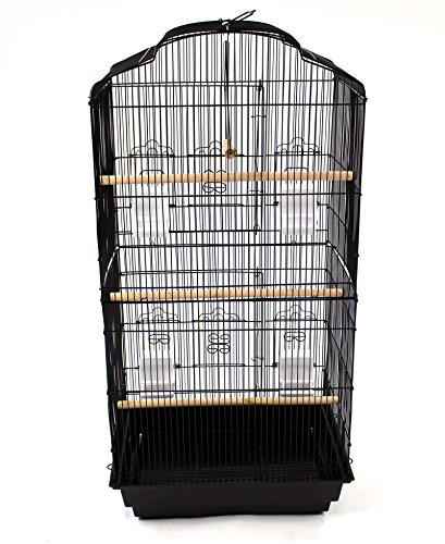 Easipet Large Metal Bird Cage for Budgie, Cockatiel, Lovebirds etc (Black) 7