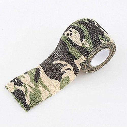 vinmax Camouflage de bande élastique Wrap pour couvrir les articles de extérieur activitys Militaire numérique ACU