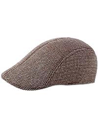 0f6e985d82a1e DaoRier Hombre Sombreros Boinas Gorra de Béisbol Ocio Retro Gorra de Deport  Sombrero Plano Hat Flat