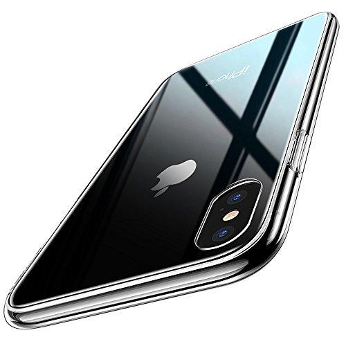 ESR 9H Gehärtetes Glas Hülle für iPhone X [Stoßfest] TPU Rahmen [Kratzfest] Durchsichtige Handyhülle Kabelloses Laden Unterstützen Glashülle Schutzhülle kompatibel mit Apple iPhone X - Transparent