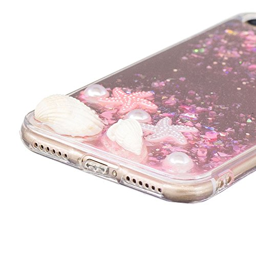 Dream starfish shell Dijiao transparent female models fashion tassel lace soft case for (iphone 7,Pink) iphone6Plus,Pink