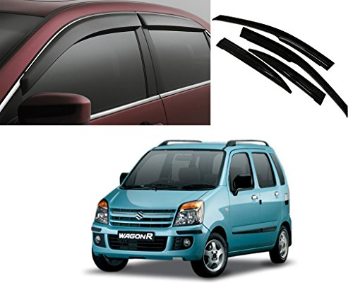 Auto Pearl - Premium Quality Car Rain Wind Door Visor Side Window Deflector For -Maruti Suzuki WagonR Old-Set of 4 pcs  available at amazon for Rs.1149