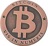 Coinedbits Bitcoin Miner pièce de monnaie commémorative du Cuivre Antique Collectors pièce de monnaie avec écran rond Plastique Coque