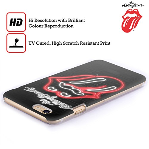 Offizielle The Rolling Stones Fahne Poster Lecken Kollektion Ruckseite Hülle für Apple iPhone 6 / 6s Neon
