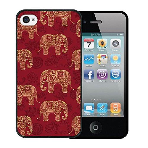 iPhone 4 iPhone 4S Hülle, WoowCase Handyhülle Silikon für [ iPhone 4 iPhone 4S ] Herzen aus Federn Handytasche Handy Cover Case Schutzhülle Flexible TPU - Transparent Housse Gel iPhone 4 iPhone 4S Schwarze D0064