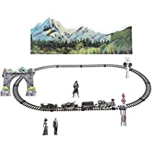 Remote Control Train Set, RC Smoke Military Train with Tracks for Kids Children Toy Gift