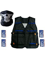 Elite Tactical Vest Kit for Nerf N-strike Elite Series,40-Dart Refill Pack,seamless skull face mask by VOROSY