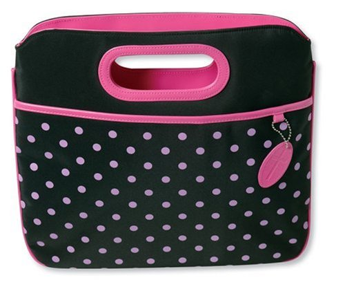 Pink Polka-Dot Carrier with Clutch Handles -