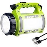 EULOCA Lampe Torche LED Rechargeable , Lampe Camping 3 en 1 Puissante , 2600mAh Fonction de Batterie Externe, Lanterne Torche