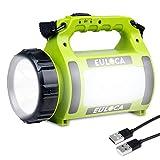 EULOCA Men's BEL357469410 Wiederaufladbare CREE LED Handscheinwerfer Wasserdicht Suchscheinwerfer, 2600mAh, 19.5 x 9.8 x 15 cm