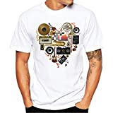 Camiseta Hombres, Manadlian Hombres más tamaño impresas Tops Blusa camisetas manga corta de algodón manga corta T-shirt S-4XL