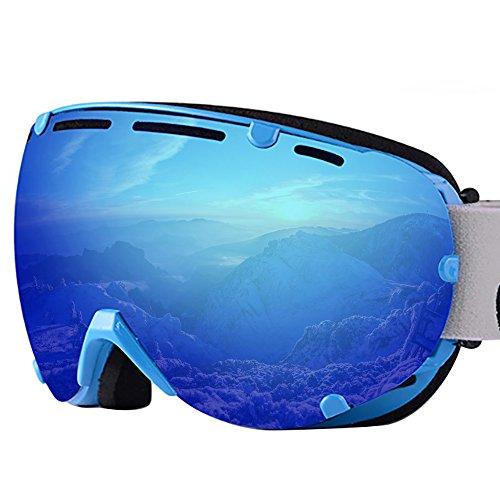 Adult Frameless Snowboard Snowmobiling Skibrillen Anti Fogging Double Layer Objektiv Ultra-light