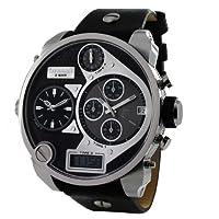 Reloj de caballero Diesel DZ7125 de cuarzo, correa de piel color negro de Diesel