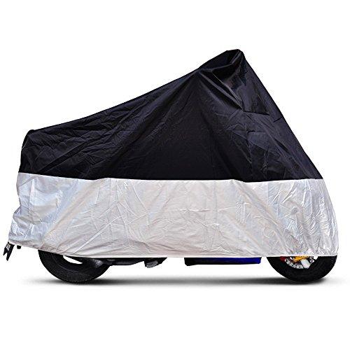 Delmkin Motorradplane Abdeckplane Motorradabdeckung wassericht Motorrad Schutzfolie Cover - XXXL: 265 * 105 * 125cm