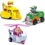 Patrulla de Cachorros Racers 3-Pack Set vehículo, Escombros / Rocky / Skye