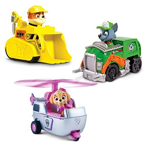 Preisvergleich Produktbild Paw Patrol Racers 3-Pack Vehicle Set, Rubble/Rocky/Skye, Model: 6026092, Toys & Play