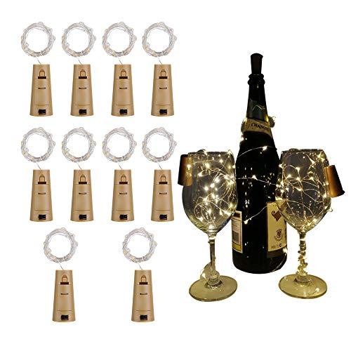 Likey Flaschen-licht,10 Stück 20 LED 2M Warmweiß,Gib LR44 -