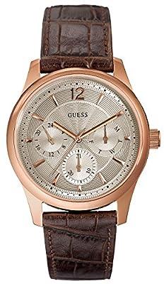 Guess W0475G2 - Reloj con correa de metal para hombre, color beige / marrón