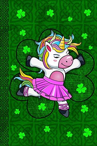 Ballet Unicorn Journal for Girls: Beautiful Dabbing Unicorn for Kids & Teen Pretty Ballerina Dab Dance Magical Irish Green Celtic Knot Diary Blank Lined Book Celebrate St Patricks ()