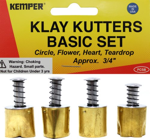 Kemper Clay Cutters Set of 5 Teardrop Shapes by Kemper Tools Teardrop-cutter