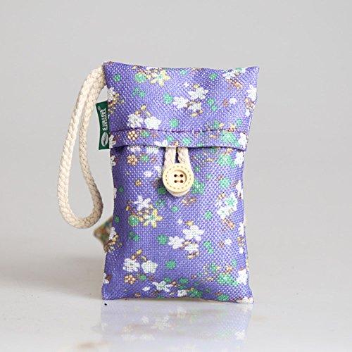 NACOLA Natural Air Purifying Taschen, 100g, Bambus Holzkohle Deodorizer Lufterfrischer entfernen Formaldehyd musty mit Tasche für Auto-Geschenk, 2Stück violett (Pre-filter Tasche)