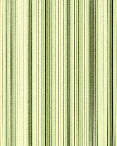 Streifen Tapete EDEM 097-25 Designer Tapete prunkvolle modern und edel grün hellgrün gold silber schwarz (Tapeten-designer)