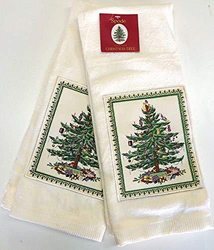 Spode Christmas Tree Küche Handtuch-Set von 2 Ivory Tree 2 Spode Christmas Tree