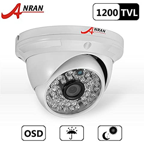 ANRAN 1200TVL Telecamera ad alta risoluzione 48IR LED colore Day visione notturna a infrarossi di sicurezza impermeabile per esterni/interni Dome telecamera di sorveglianza