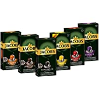 Jacobs Kapseln Vielfaltspaket - 60 Nespresso (R)* kompatible Kaffeekapseln aus Aluminium - Vielfaltspaket 6er-Pack