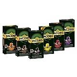 Jacobs Kapseln Vielfaltspaket - 60 Nespresso (R)* kompatible Kaffeekapseln aus Aluminium - 6 Sorten (6 x 10 Kapseln), 312 g