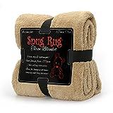 Snug Rug Special Edition Luxury-Manta de Lana Sherpa, Color Beige, 127x 178cm