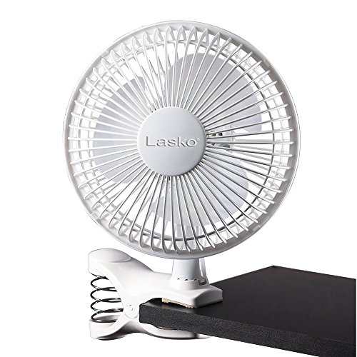 LASKO 2004W 2-Gang Clip Fan, 15,2cm, Weiß (Lasko-clip)