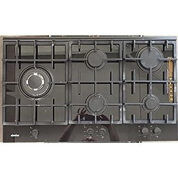 Gaskochfeld 5 Flammig : glas gaskochfeld schwarz glas autark 90cm wok brenner 5 flammig simfer ~ Watch28wear.com Haus und Dekorationen