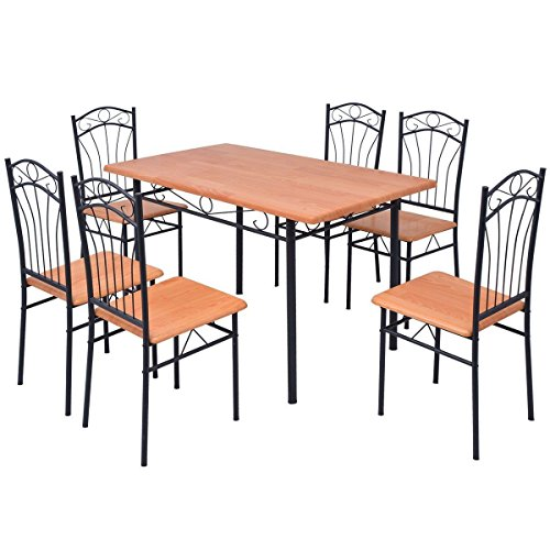 LD 7-Piece Dining Set / Dining Table with 6 Chairs